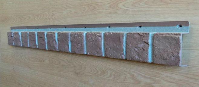 Схема крепления типичного линейного элемента сайдинг-систем